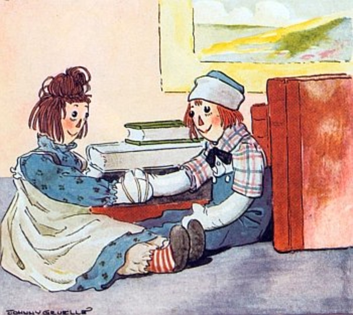 Raggedy Ann Wears a Pinafore From the Project Gutenberg Archives