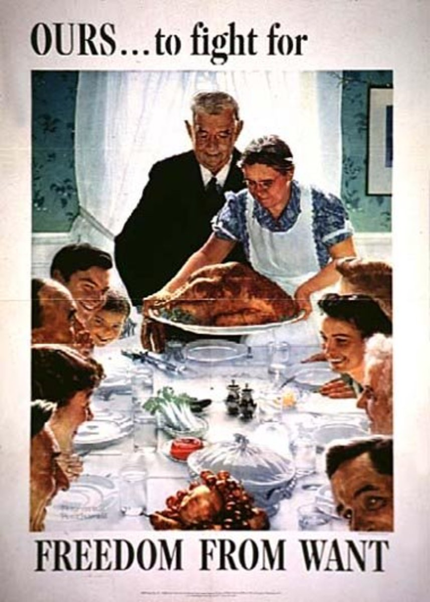 Norman Rockwell illustration of woman in apron