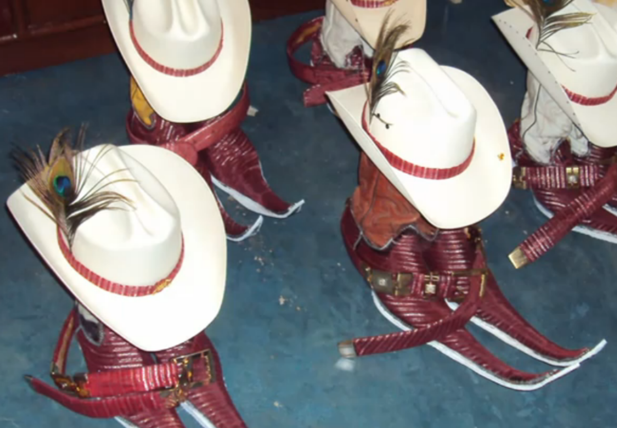 Several dance crews develop matching sets of boots