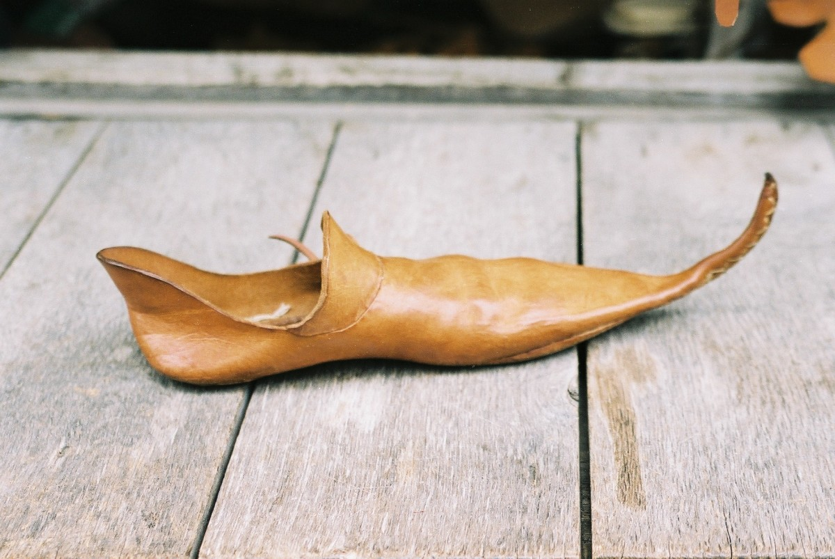 A Medieval shoe - pointy!
