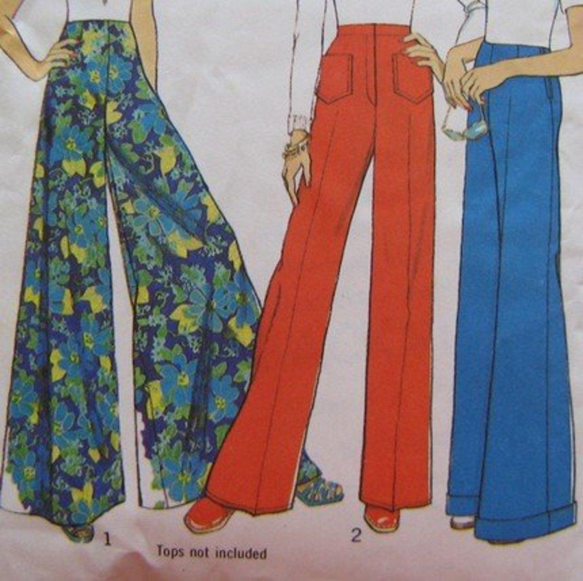 1970s Women Bell-Bottoms