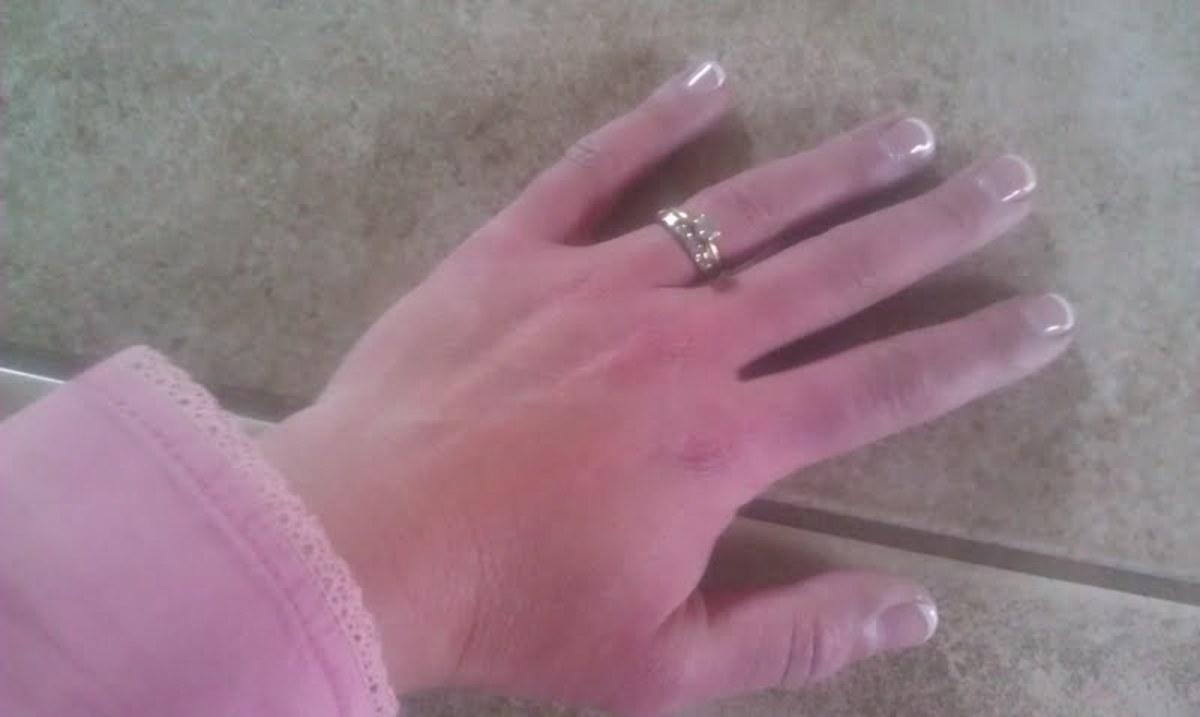 My new shellac nail manicure