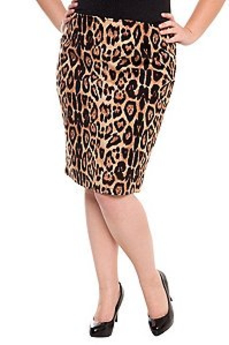 Take a walk on the wild side with this cheetah print pencil skirt. Pair it with a red cardigan, wide black belt and sexy heels all the fellas will be on the prowl for you!