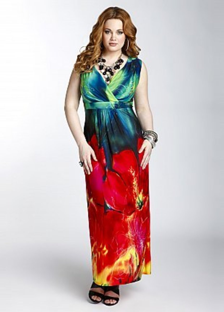 This colorful cross-over bust maxi  will have all eyes on you for all the right reasons!