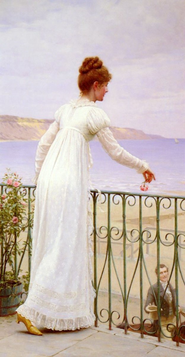 Though a painting of a woman in the early part of the 19th century,  her shoes would not look out of place today.