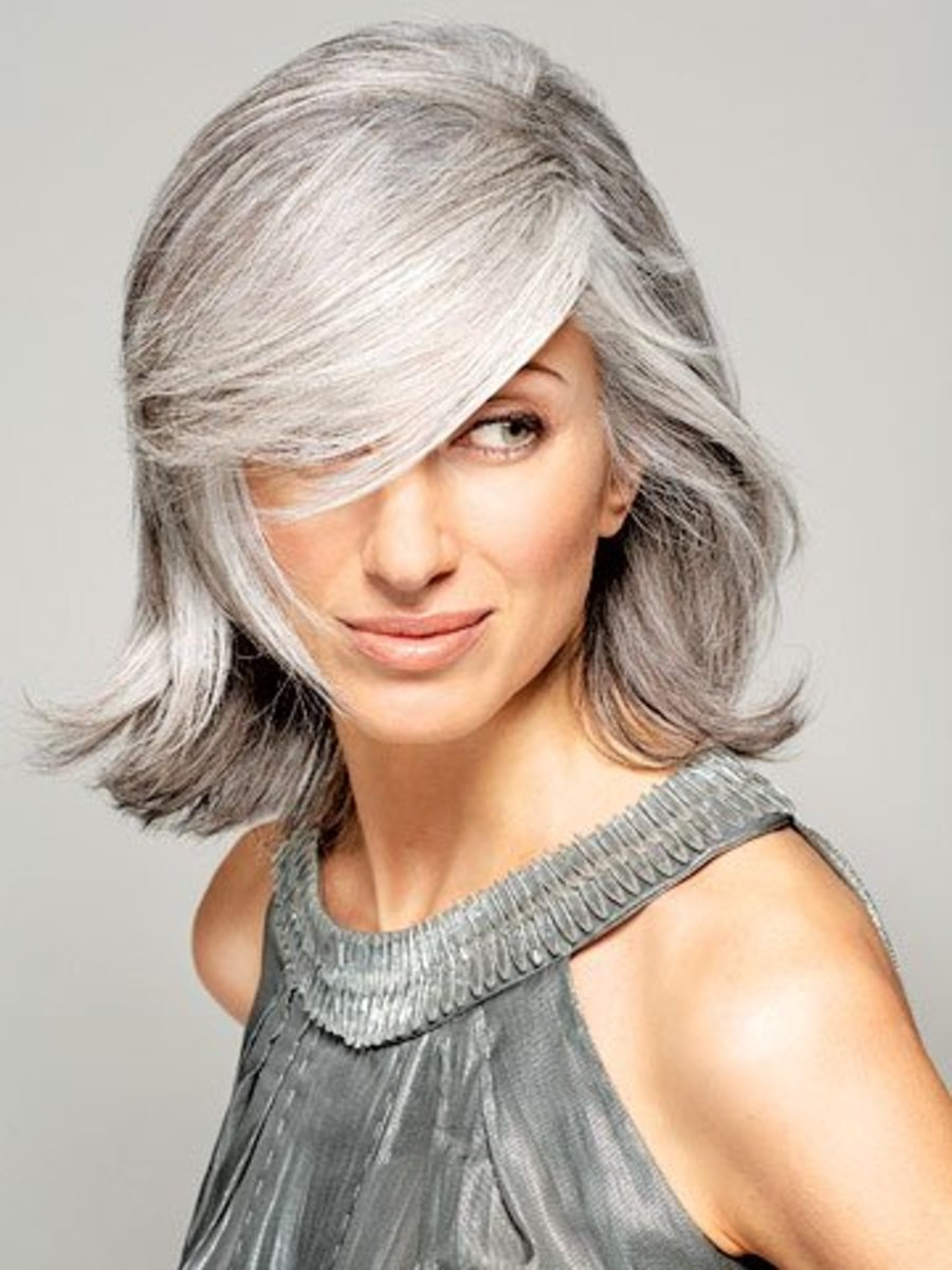 Even though you want to go easy on heat appliances, straightening gray hair can add some glitz to your look. Gray hair reflects light, which is highlighted ...