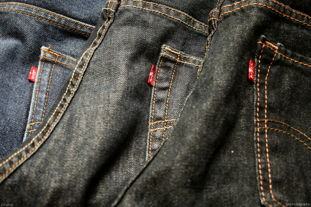 Levi's come in a wide array of size, style, and color options. You can get them in various different weights of denim: some 100% cotton and some with spandex. They're even available with holes already worn into the fabric.