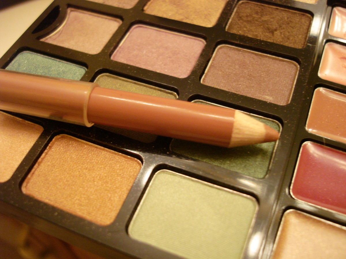 Use a light brown lip liner followed by a natural brown lipstick.