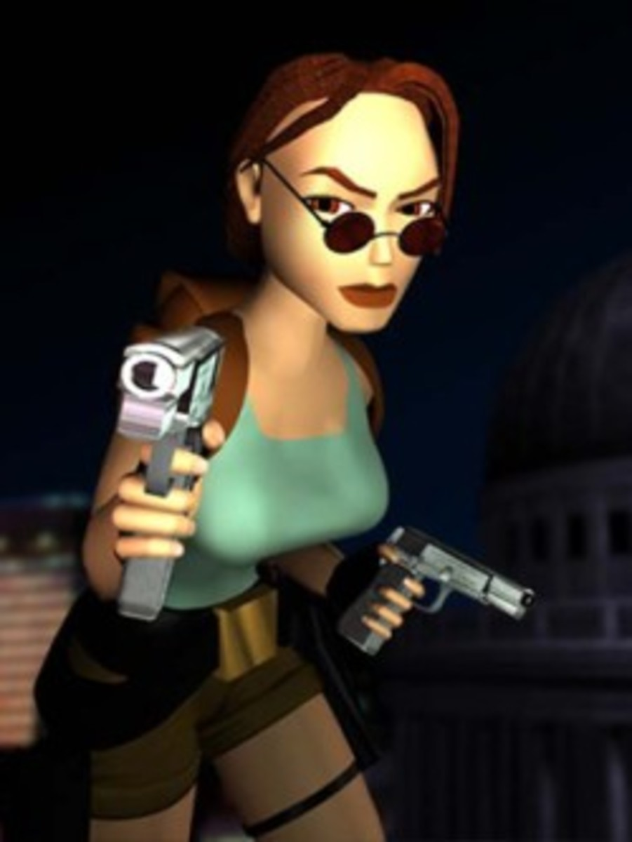Lara Croft as depicted in Tomb Raider 3