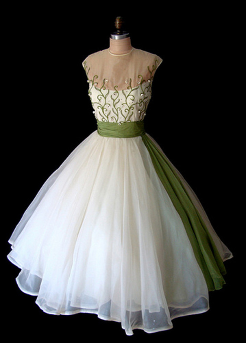 Tea-Length A-Line Wedding Dress