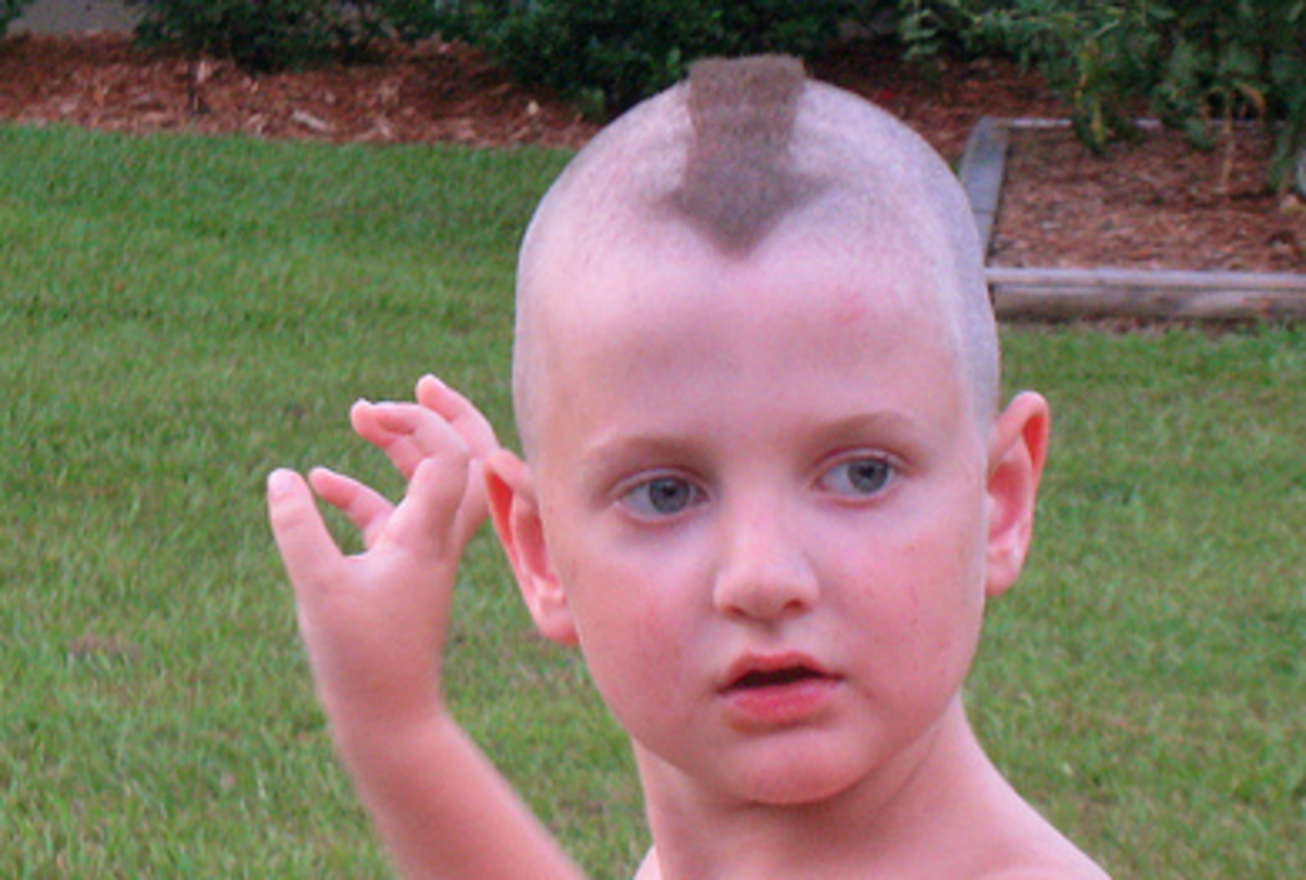 A Ray-hawk haircut.