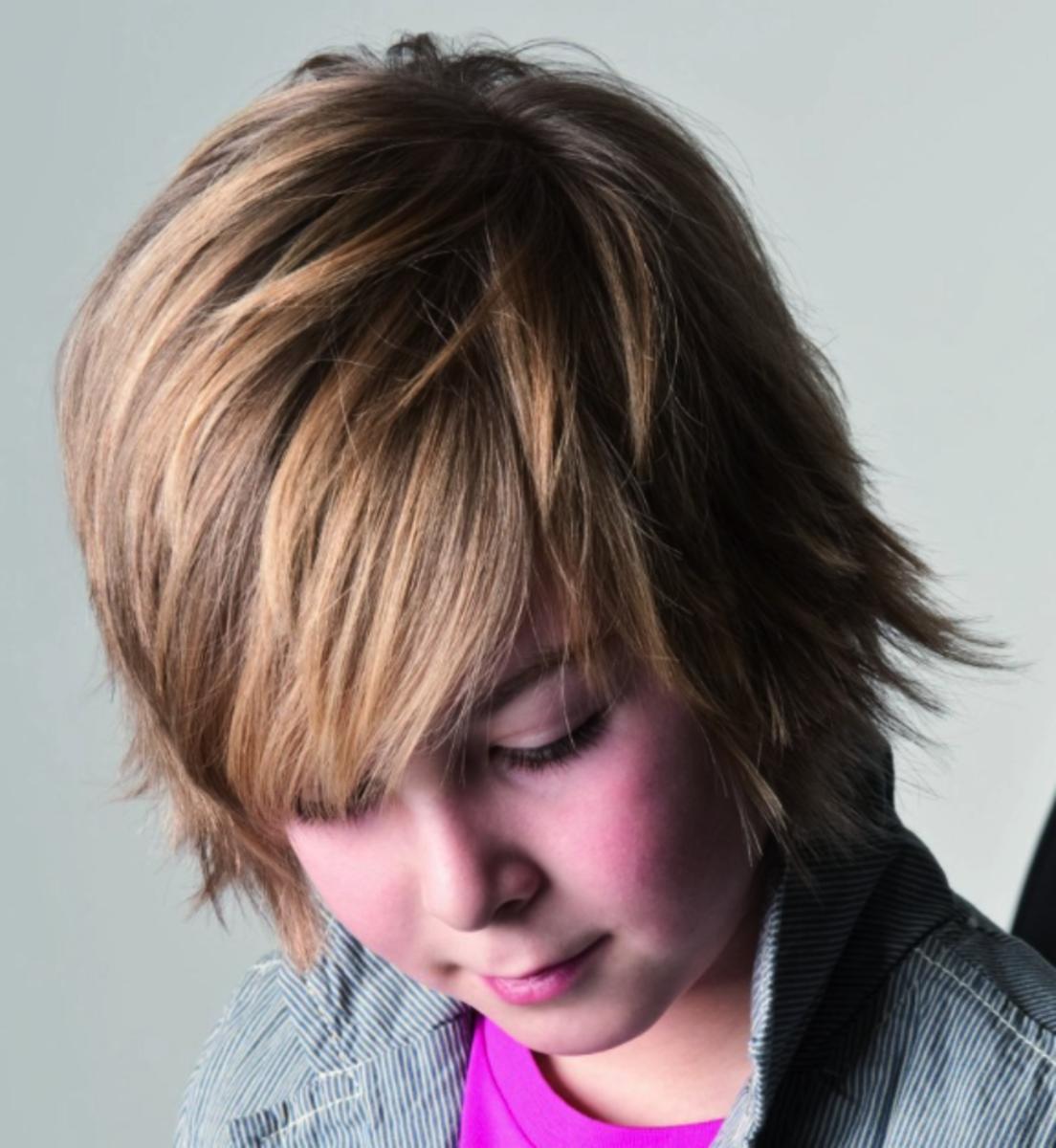 A longer layered haircut.