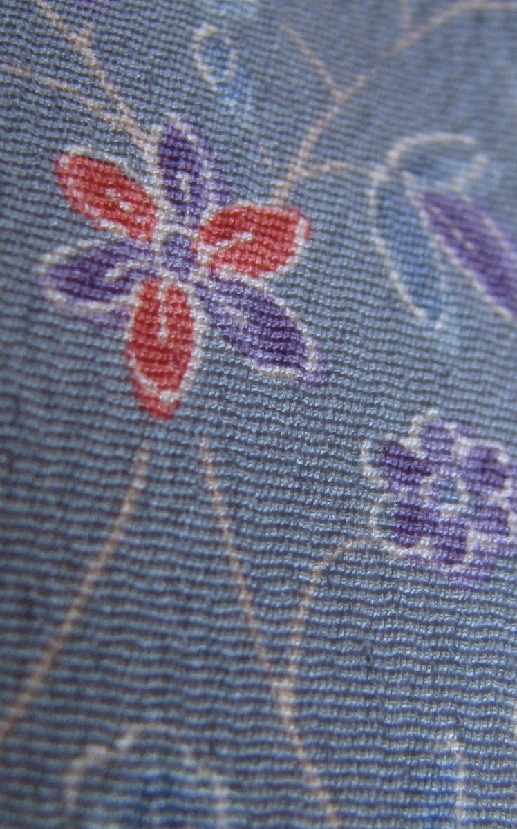 Synthetic kimono fabric