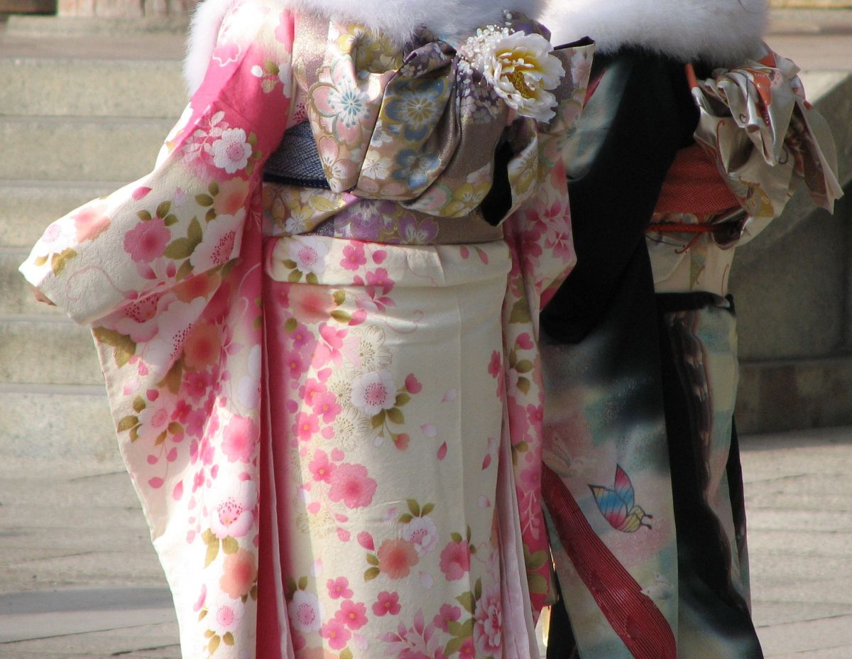 Kimonos in Kyoto on Coming of Age Day.