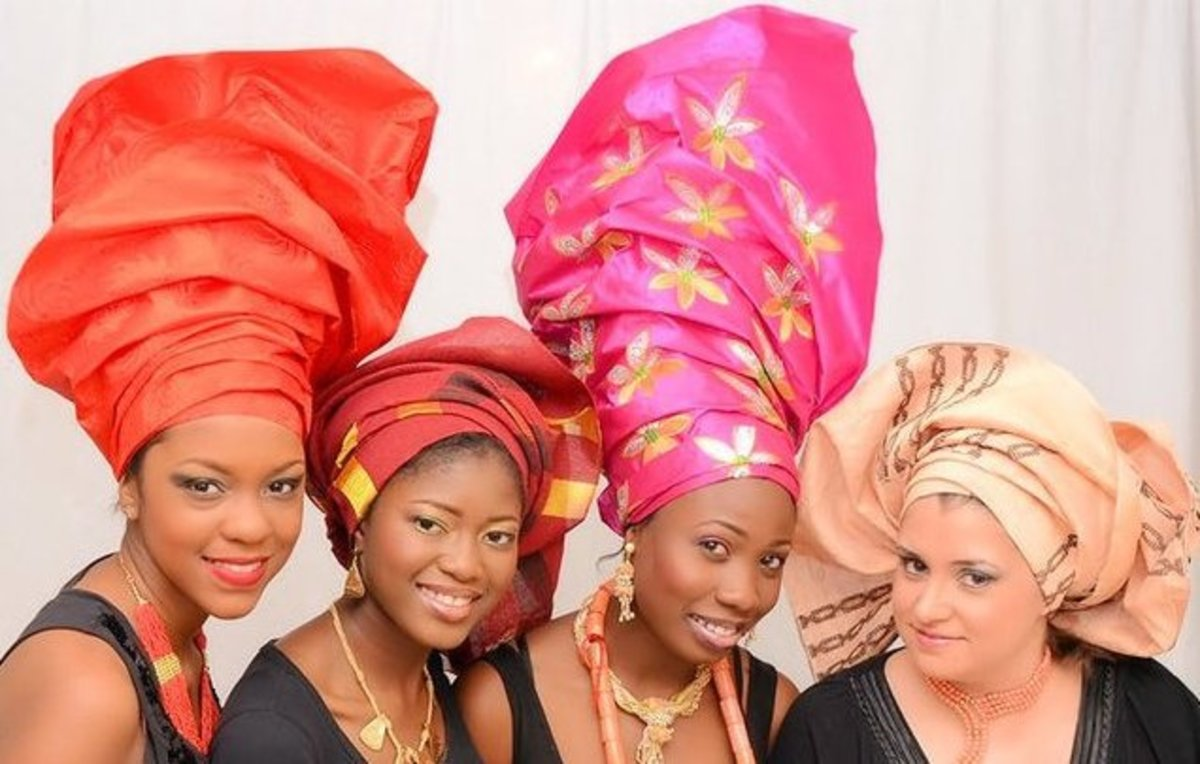 Modern Gele. How tall is that?