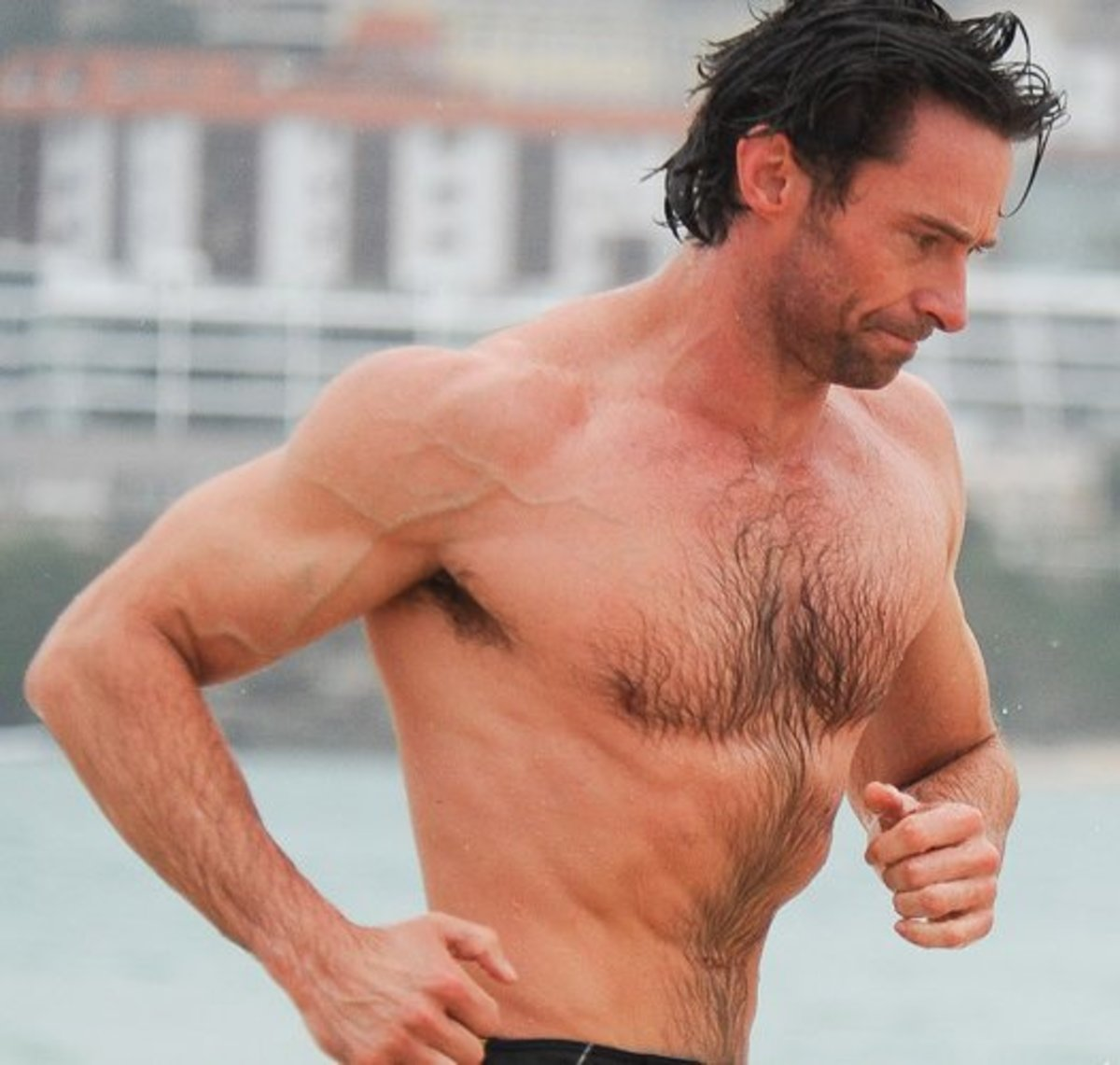 Hugh Jackman is living proof that chest hair on men, in the right amount, looks sexy as hell.