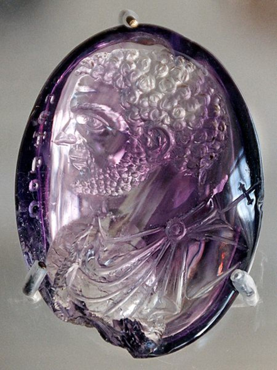 Carved Amethyst Bust of Carcalla