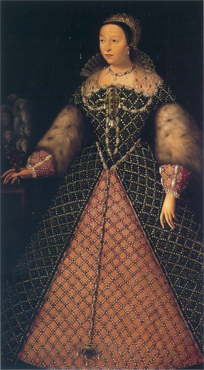 Catherine de' Medici, Queen of France from 1547 to 1559. Wife of King Henry II.