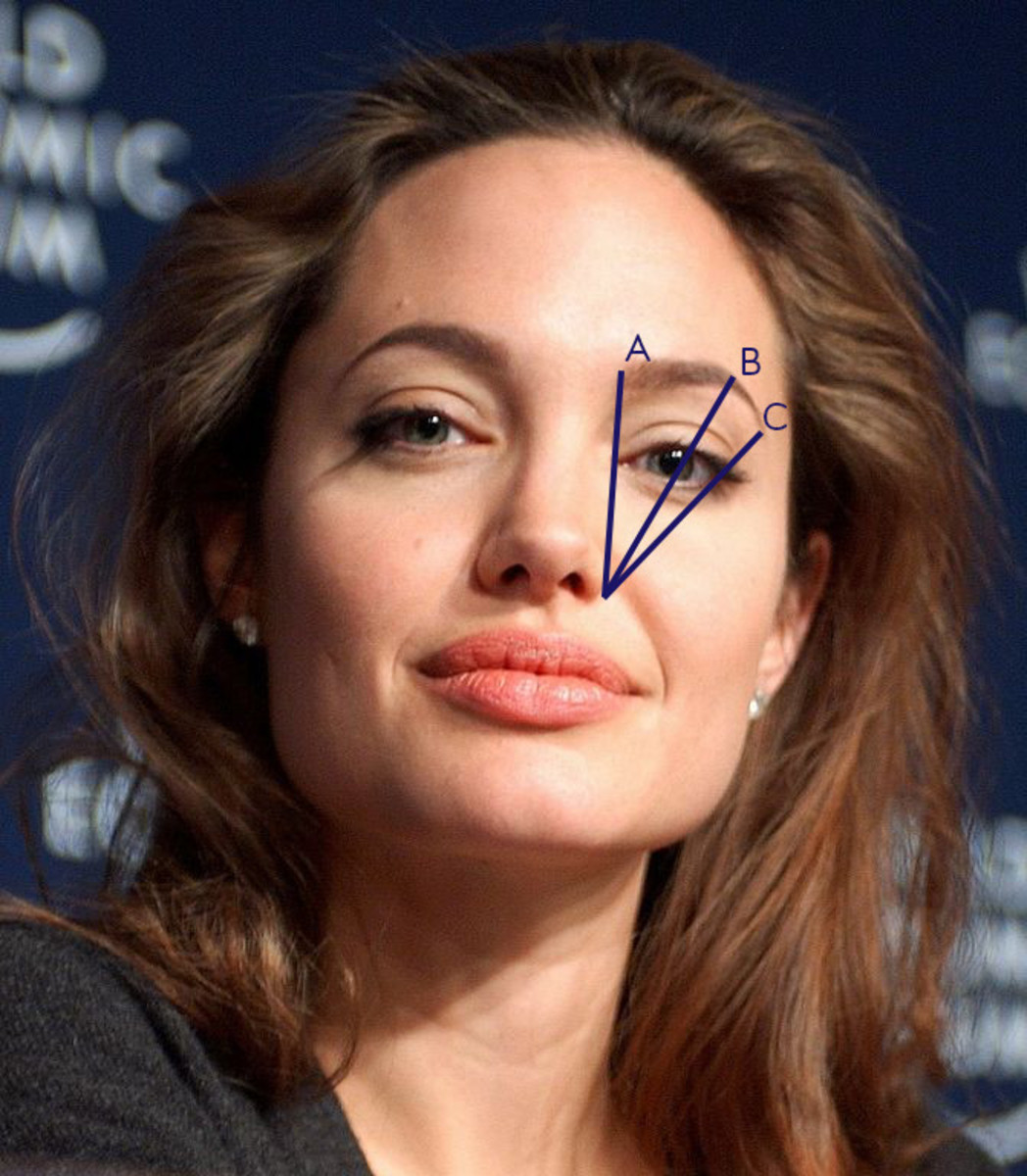 The beautiful Angelina Jolie follows this tip! Or at least her make-up artist does.