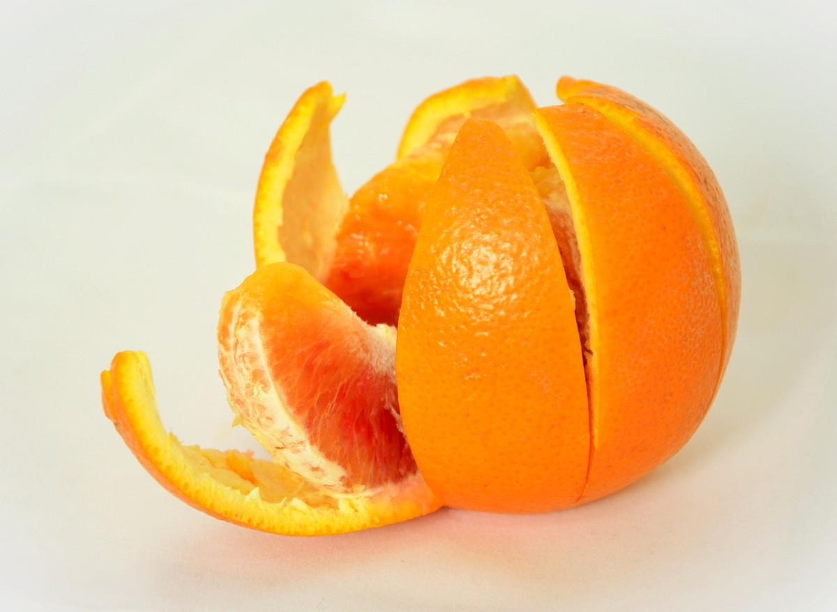 Save the orange peels for your skin and then eat the rest!