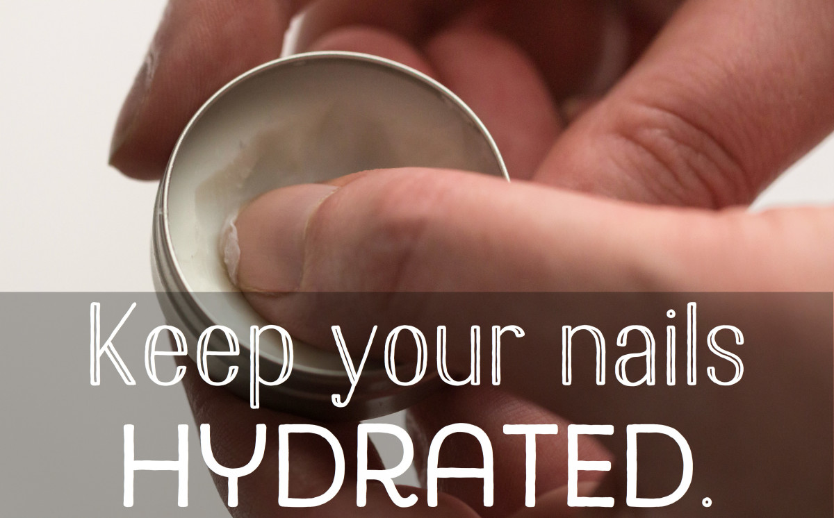 Hydration is important for healthy nails.