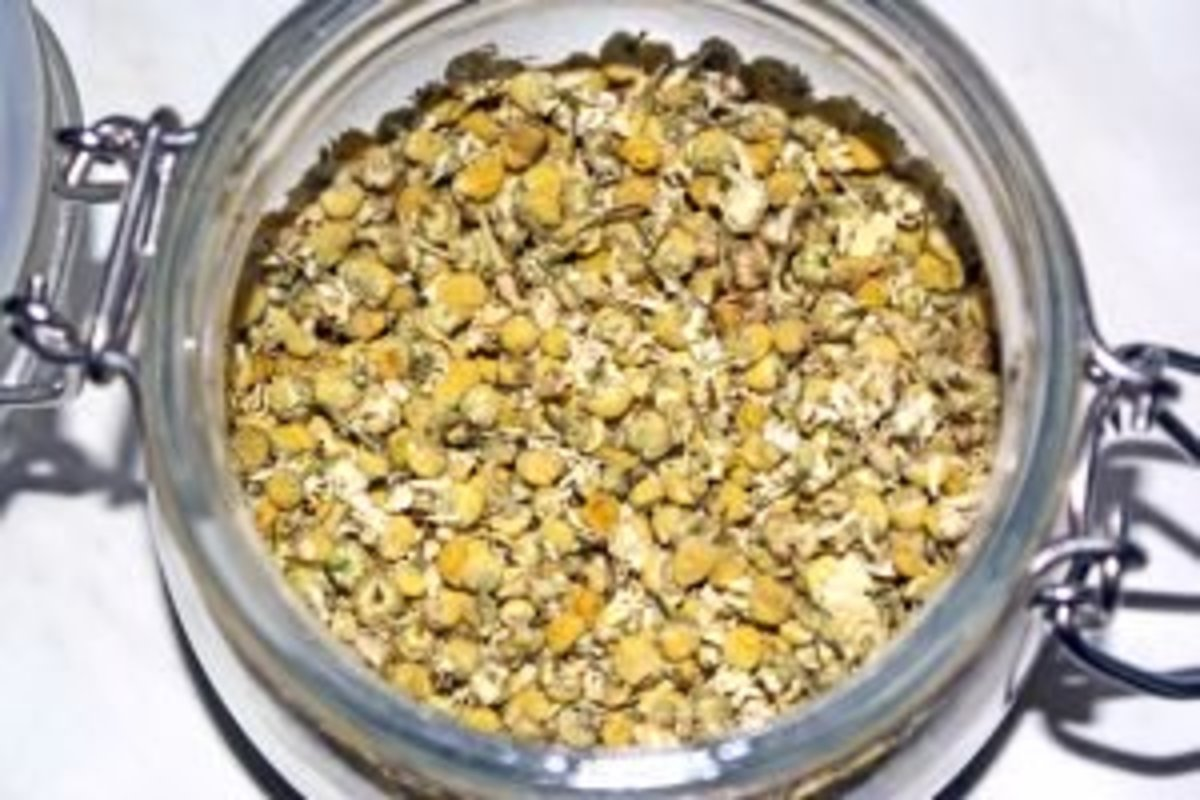 Chamomile tea is a healthy, healing brew that lightens hair naturally.