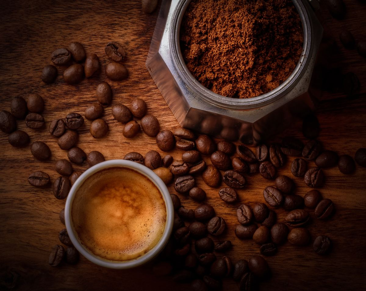 No need to worry about your hair getting a caffeine buzz from too much coffee!