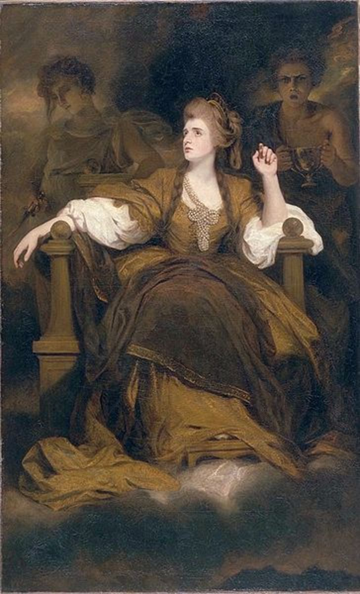 Sarah Siddons posing as the Tragic Muse