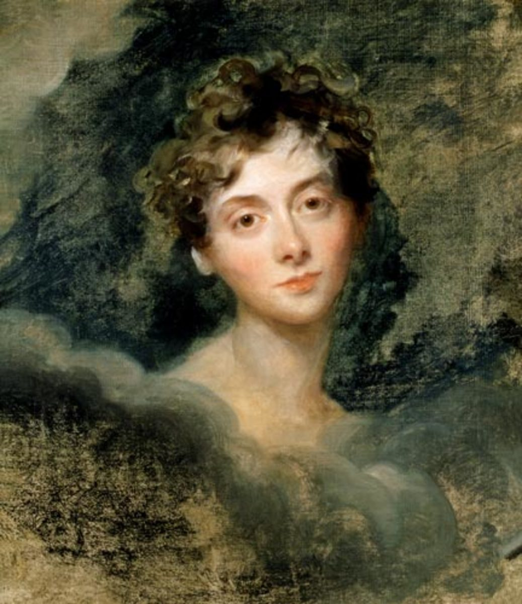 An 1805 portrait of Lady Caroline Lamb. You go girl!
