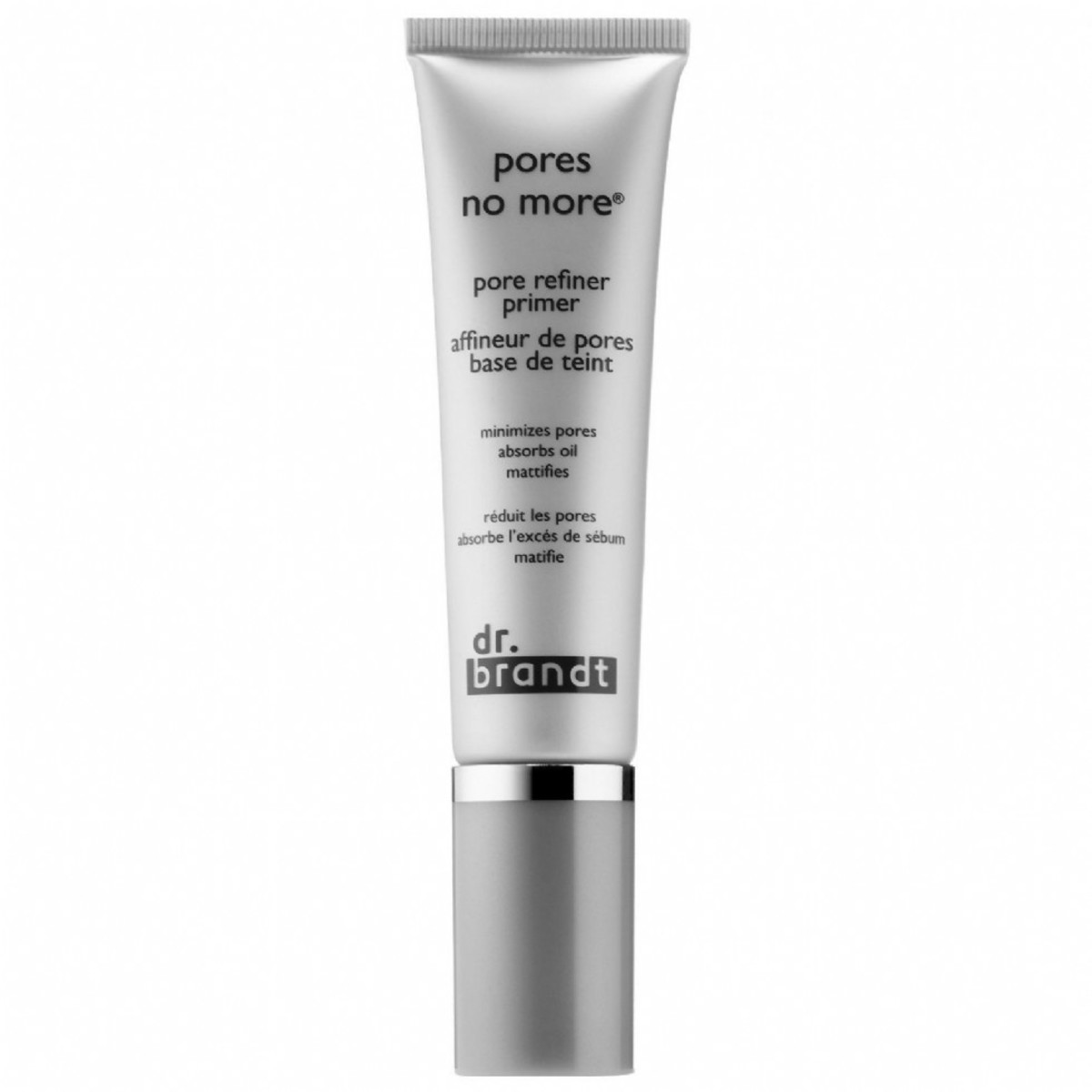 The refiner gives your face a matte finish to reduce the look of large pores.
