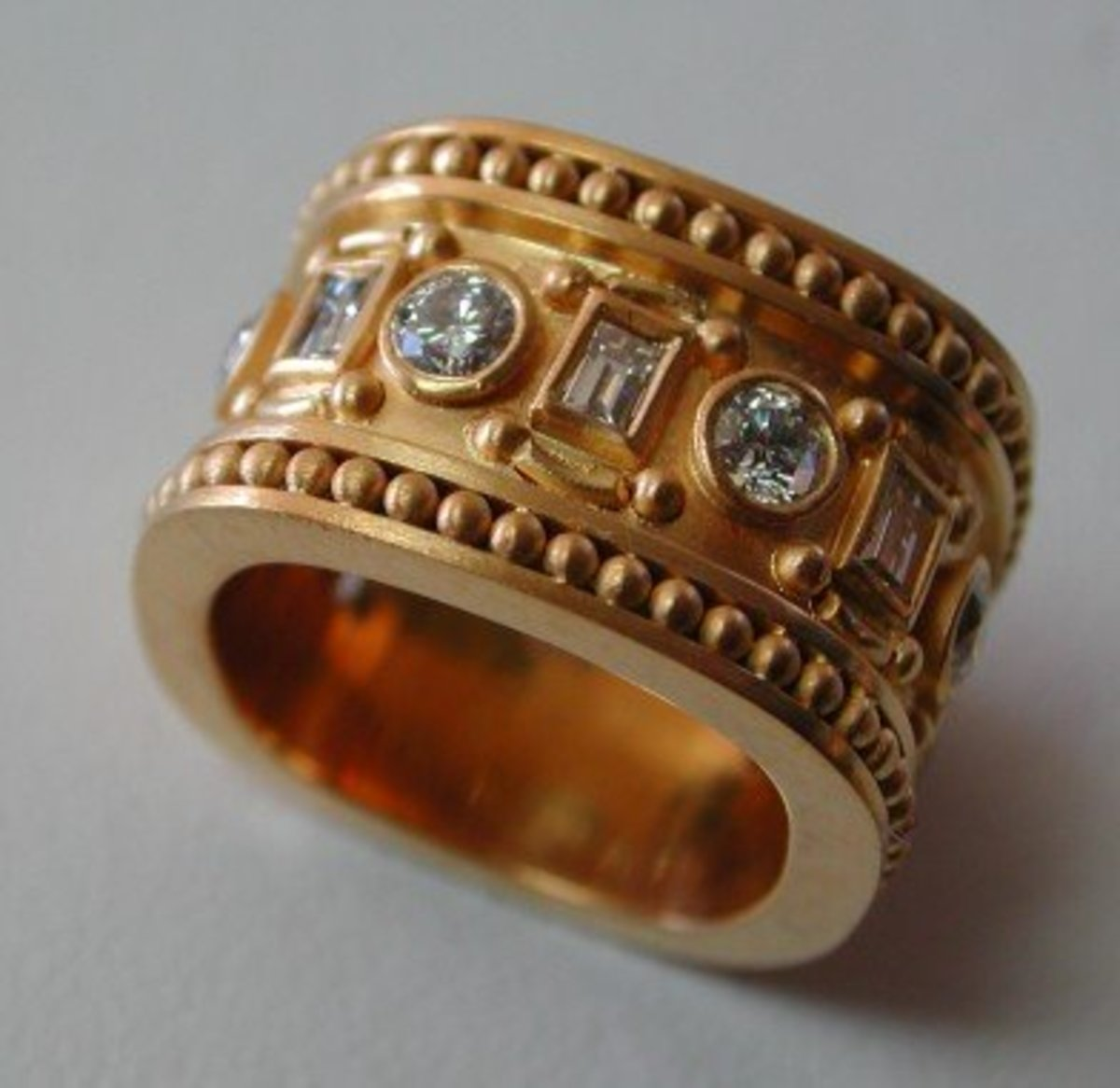 "This gorgeous custom ring from Big Sky Gold was ""extra wide."""
