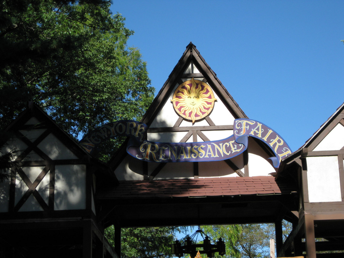 Entrance to a New York renaissance faire.
