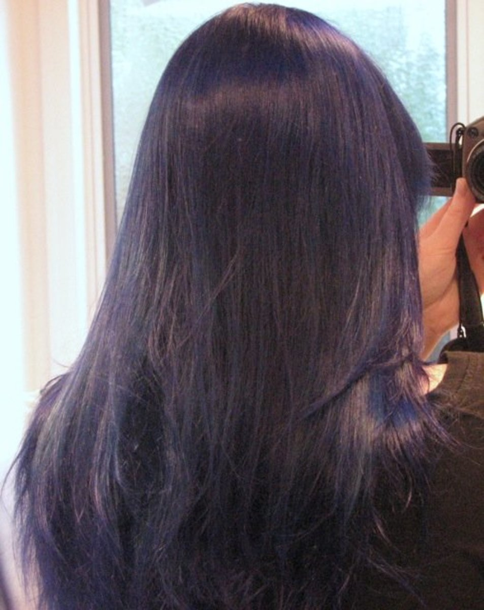 how to dye your hair purple or dark blue bellatory