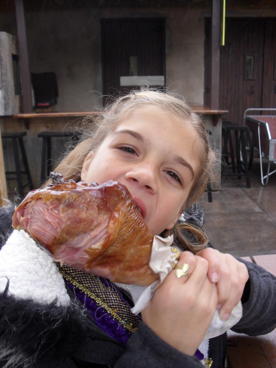 Eating a Turkey Leg at the Pennsylvania Renaissance Fair