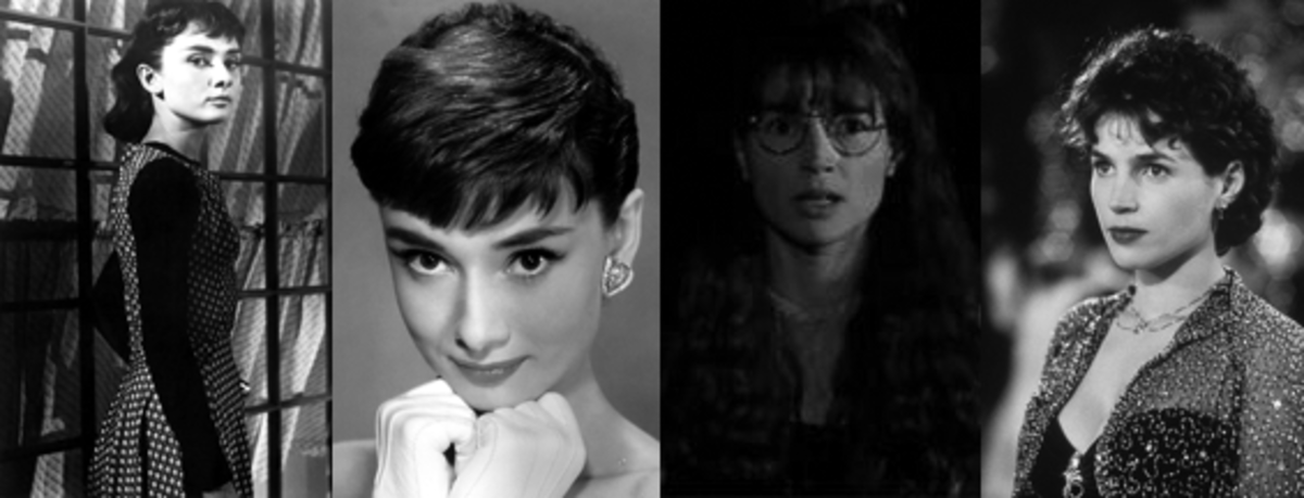 Women with Short Hair Cuts - Sabrinas, Audrey and Julia, 1954 and 1995 respectively