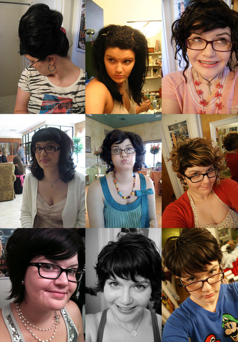 My hair over the years (2007-2011).
