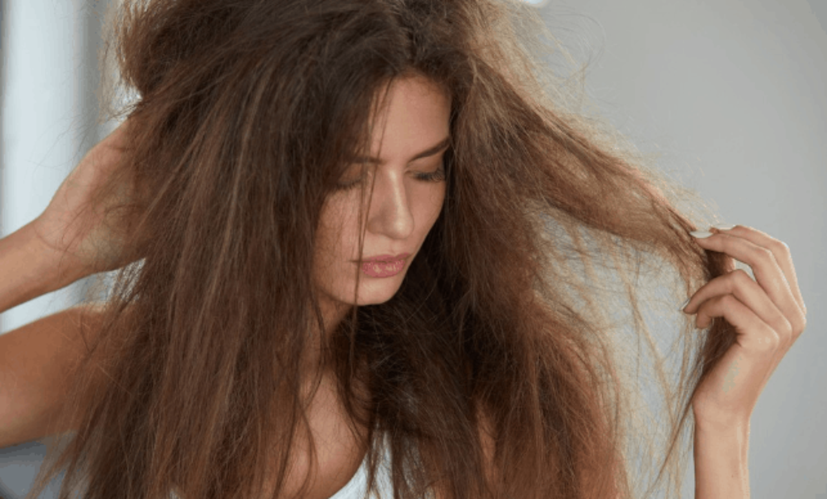 When heat is applied to hair, like hot water or heat from the blow dryer, the cuticle opens which makes the hair appear frizzy and untamed.