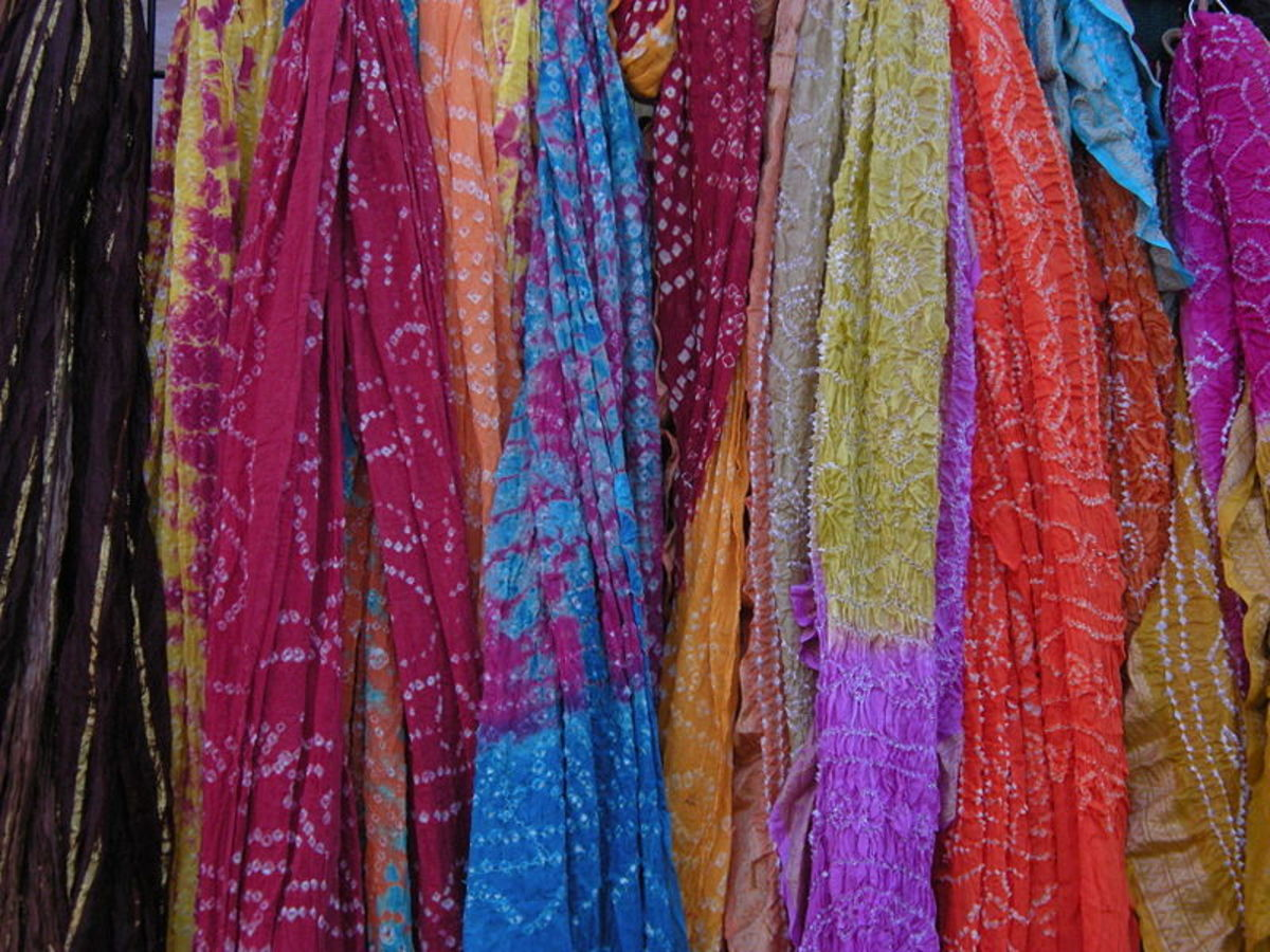 A plethora of scarves! Scarves are a fantastic way to bring colour to an outfit.