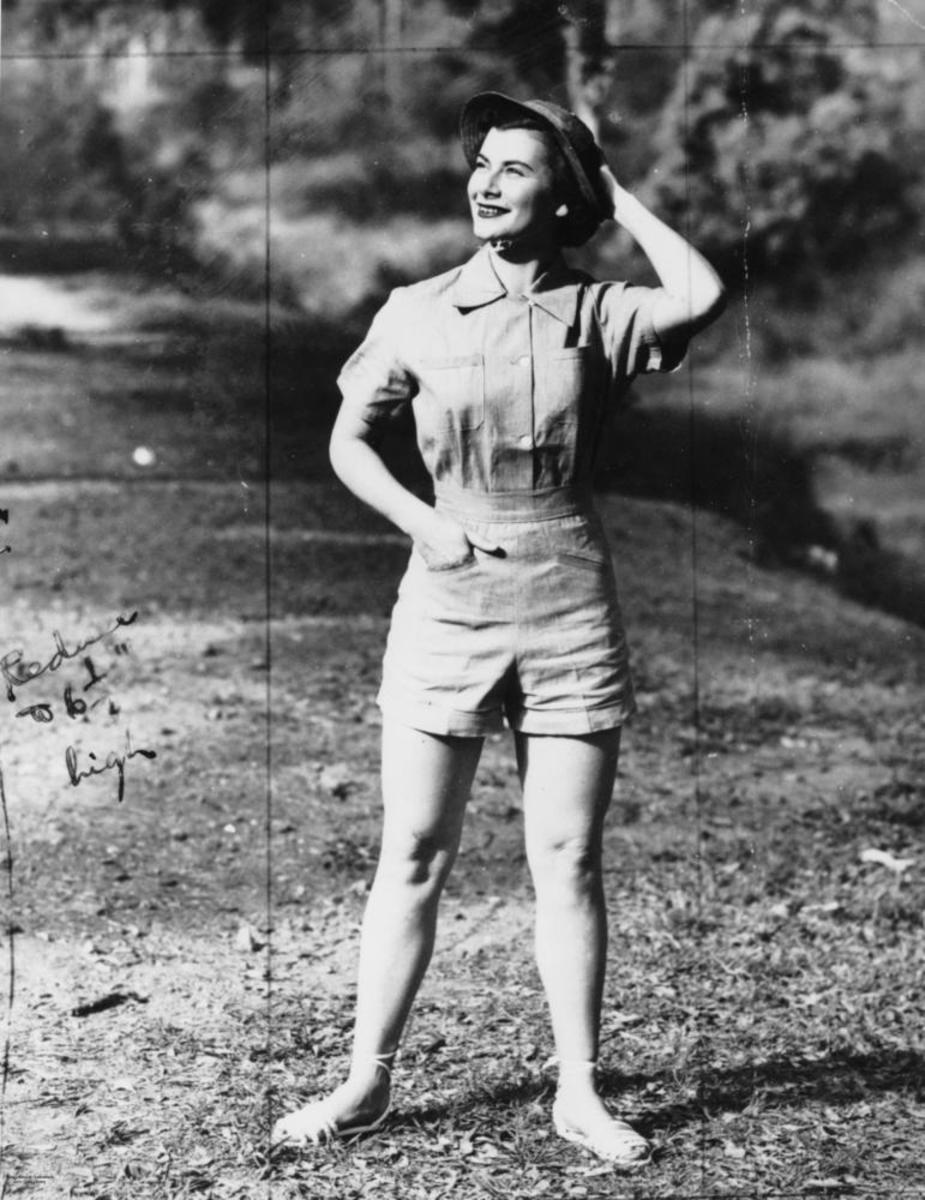 Woman in shorts 1952