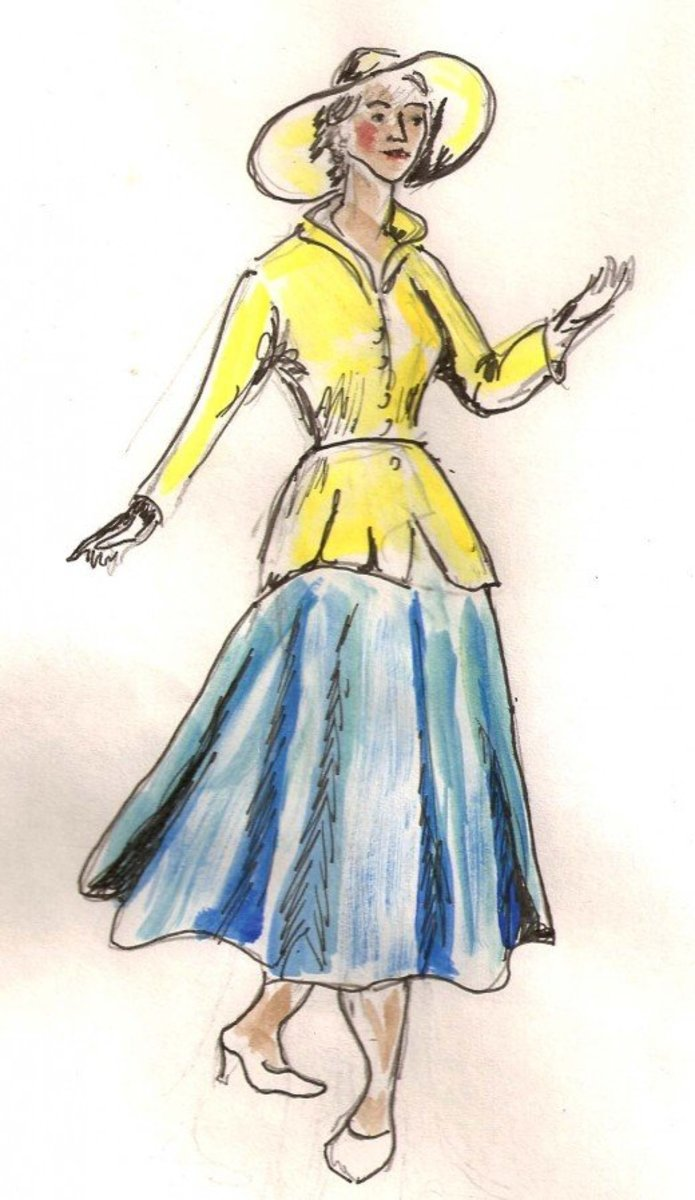 The New Look. Sketch by Dolores Monet