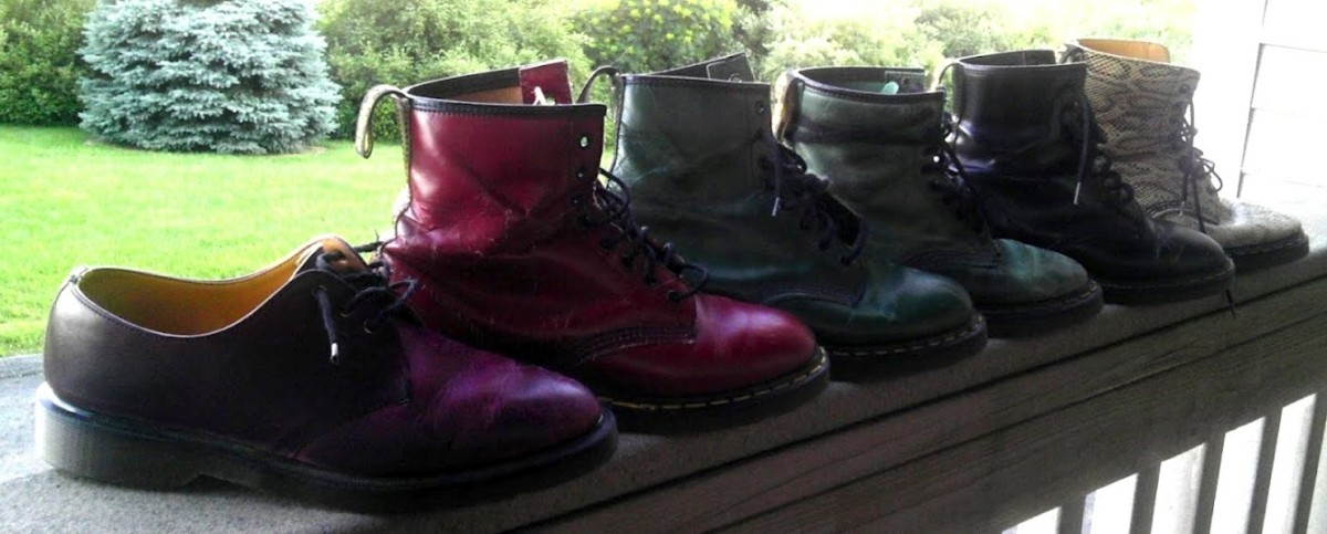 A lineup of my Doc Martens. Aren't they somethin'?