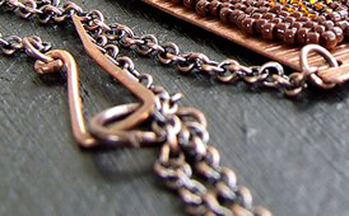 Handcrafted cable chain necklace.