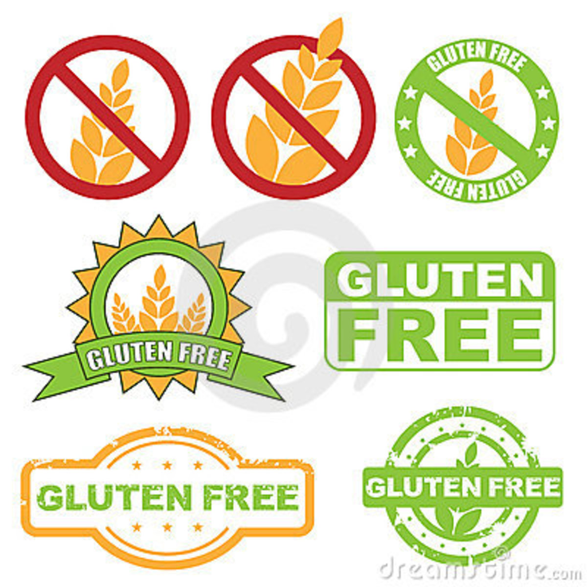 "Just a few ways products might be labeled as ""gluten free."""