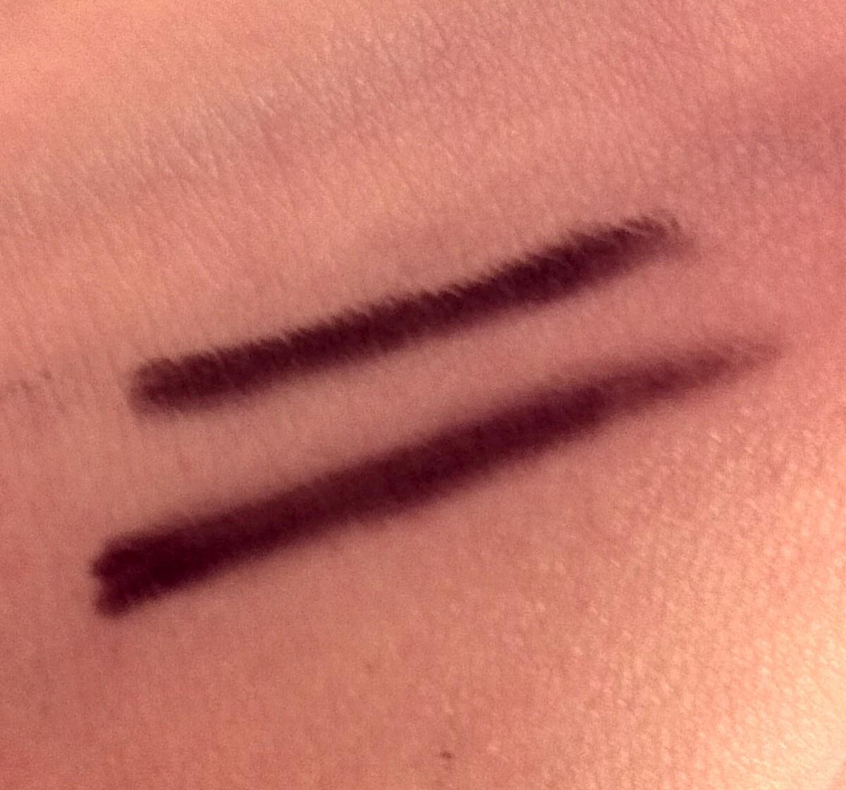 Kajal eyeliner applied