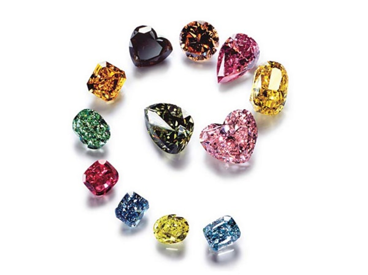 Color diamonds come in a rainbow of hues and intensities.