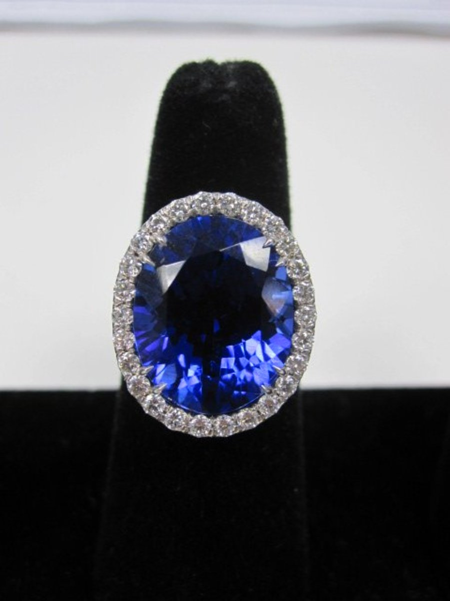 A Large Tanzanite RIng. Careful! Tanzanite is notoriously brittle.
