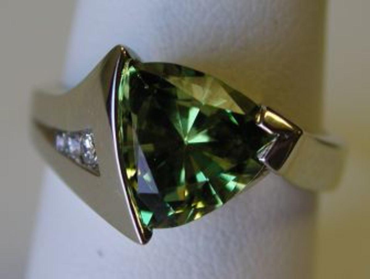 A Fancy Green Garnet: beautiful, but not a great investment.