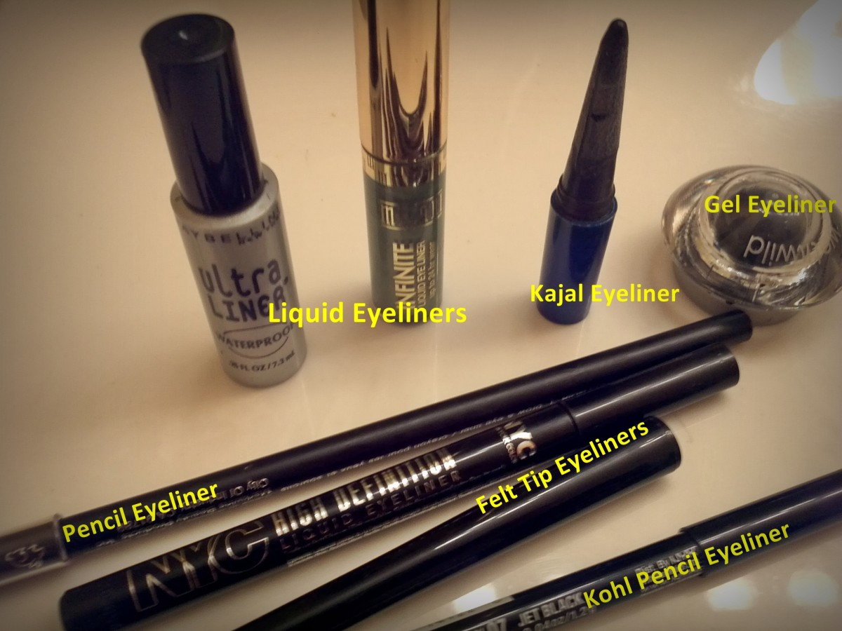 Liquid, Kajal, Gel/Cream, Pencil, Kohl, Felt-tip, Art liners