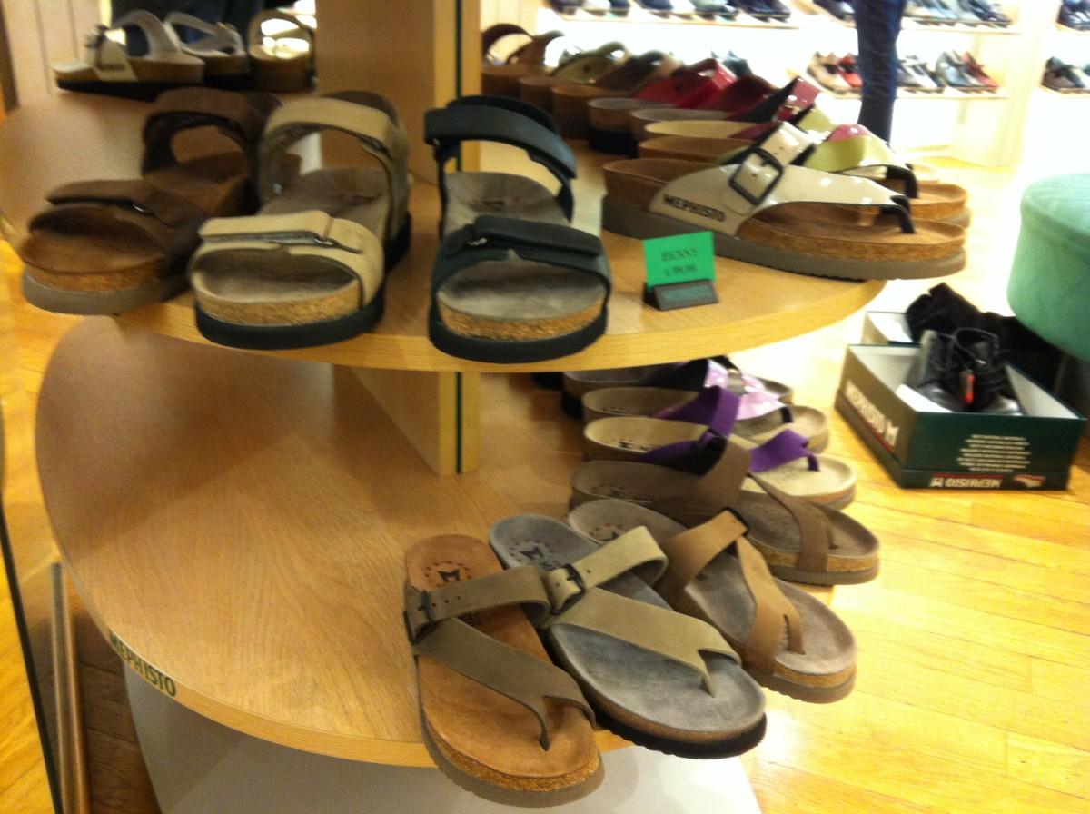 'Helen' shoe display in the store