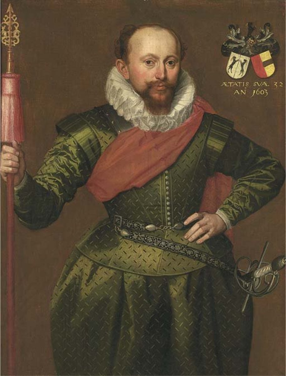 Though you can't see the full figure, you can see this gentleman (circa 1603) is wearing some pretty puffy pants
